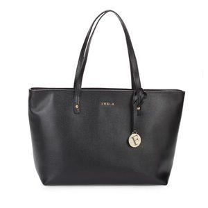 Furla Daisy Medium Leather Tote Bag, Onyx, NWT